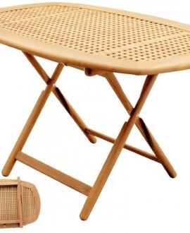 Tavolo in massello di teak ovale art.60121