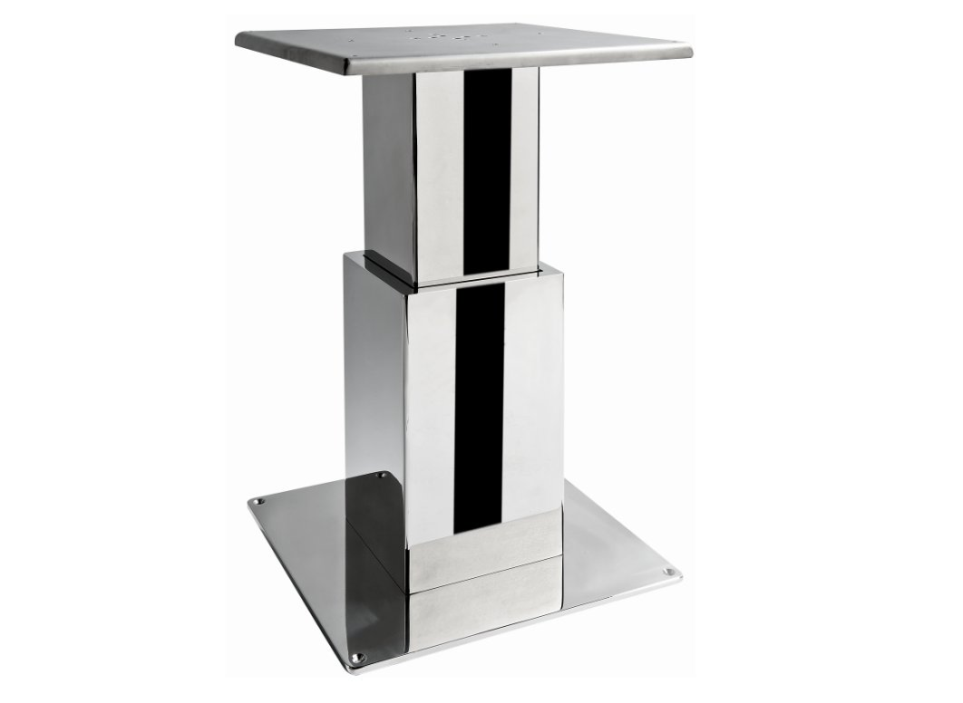 Electric table leg with square stage atep - Table basse pied inox ...