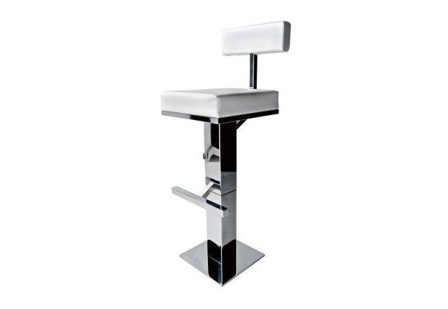 Sgabello bar quadrato in acciaio inox atep italy for Sgabello bar pieghevole